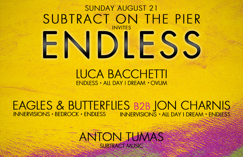 Subtract On The Pier 015: Luca Bacchetti, Eagles & Butterflies B2B Jon Charnis