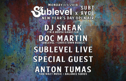 Sublevel x Subtract NYD w/ DJ Sneak, Doc Martin & Special Guest